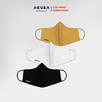 Khẩu trang thời trang 3 lớp kháng khuẩn chống tia UV  AKUBA mềm mại, điều hòa không khí tốt 01