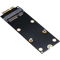 Fun MSATA SSD to 7+17Pin Adapter Card for 2012 Macbook Pro Retina A1425 A1398 Mini PCI-E SATA SSD Converter Card - black