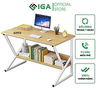Bàn Làm Việc Kèm Kệ Sách Semi Thông Minh Thương Hiệu IGA - GM18