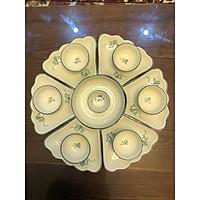 Bộ sản phẩm đĩa mặt trời gốm sứ Bát Tràng