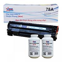 COMBO Hộp mực Thuận Phong 78A (TỰ NẠP) + 2 lọ mực đổ TP01 dùng cho máy in HP LJ P1566/ P1606/ M1536/ Canon LBP 6200D/ 6230DN/ MF 4400/ 4430/ 4580 - Hàng Chính Hãng