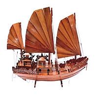 Mô hình thuyền gỗ trang trí Hạ Long Rồng - thân tàu 60cm - gỗ hương