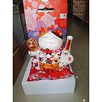 Mèo Thần Tài Vẫy Tay Nhật Bản Siêu HOT + Tặng Kèm Pin & Hộp Quà Sang Trọng 18014-1