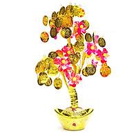 Cây Tài Lộc Thỏi Vàng Lá Vàng 23x33cm