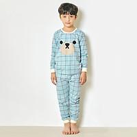 Bộ đồ dài tay mặc nhà cotton mịn cho bé trai U1003 - Unifriend Hàn Quốc, Cotton Organic