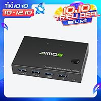AIMOS AM-KVM201CC 2-Port HDMI KVM Switch Support 4K*2K@30Hz HDMI KVM Switcher Keyboard Mouse USB