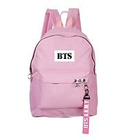 Balo BTS màu hồng in chữ BTS kèm strap BTS A.R.M.Y