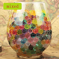 Pack of 100 PCS Wedding Crystal Water Bubble Bead Used for Sensory Toys and Décor Vase Filler, Soil, Plant decoration, Bamboo Plants (Mixed Colors)