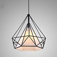 Đèn trang trí cửa hàng thả hình kim cương phi 38cm - Tặng kèm bóng LED