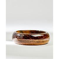 Vòng tay phong thuỷ nguyên khối đá mắt hổ vàng nâu bản to size 58 Cami.J