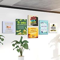 Bộ 6 tranh slogan canvas tạo động lực [trang trí văn phòng] vcb-d