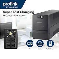 Bộ lưu điện, bộ cấp điện liên tục UPS Prolink PRO2000SFCU (2000VA) công suất 1200W - Hàng chính hãn