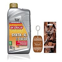 Nhớt dùng cho xe Hơi - xe Tay Ga Ardeca SYNTH-XL 5W40 (1l) + Tặng giấy thơm hương tự nhiên