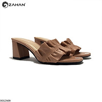 Dép cao gót 5cm, nhún, chính hãng ZAHAN DCGZA09