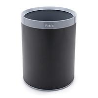 Thùng rác nhựa văn phòng, kiểu Âu - Fitis 2 lớp (đen) - ROM3-906
