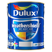 Sơn Ngoại Thất Cao Cấp Dulux Weathershield BJ8 Bề Mặt Mờ Lon 5L