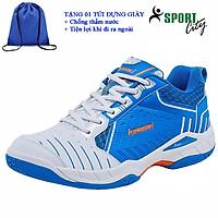 Giày cầu lông kawasaki K162 chính hãng dành cho cả nam và nữ, chuyên nghiệp chống lật cổ chân-tặng túi rút thể thao đựng giày