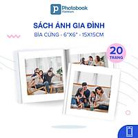 """[E-voucher] Album in ảnh theo yêu cầu bìa cứng 20 trang 6"""" x 6"""" (15 x 15cm) - Thiết kế trên app Photobook"""