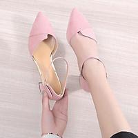 Giày cao gót bít mũi xếp 5 phân T&T