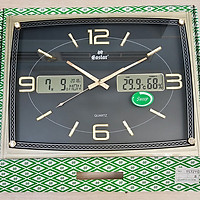 Đồng hồ Eastar Dạ quang (*), Kim trôi có Lịch Vạn Niên, Nhiệt độ và Độ ẩm (Mặt đen)
