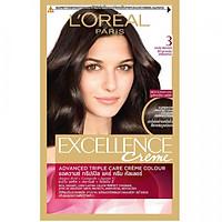 Kem Nhuộm Dưỡng Tóc Phủ Bạc L'oreal Excellence Cream 172ml - Màu 3 Nâu Đen Tự Nhiên