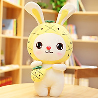 Thú nhồi bông thỏ đeo túi dễ thương cao 30cm