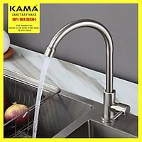 Vòi rửa chén bát lạnh KAMA RC02-L, vòi inox 304 lạnh cho hố rửa chén bát nhà bếp, màu sắc nguyên bản, không chì, không rỉ sét - Hàng chính hãng