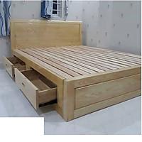 Giường ngủ gỗ sồi ngăn kéo vạt thường