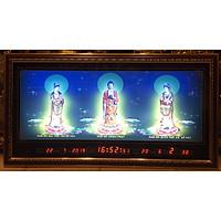 Tranh đồng hồ vạn niên, Tam Thánh Phật - 8608
