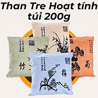 Túi Than Tre Hoạt Tính 200g, Hút Ẩm, Khử Mùi, Khử Độc Không Khí