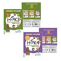 Combo 2 Cuốn Bộ Đề Luyện Thi Năng Lực Hán Ngữ HSK3 + HSK4 ( Tuyển tập đề thi mẫu và giải thích đáp án ) Video Hướng Dẫn Ôn Luyện Đạt Điểm Tối đa ĐỀ THI HSK 3+4