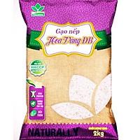 Gạo nếp Hoa vàng ĐB túi 2kg - Thương hiệu Vinaseed