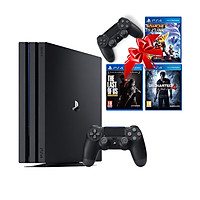 Bộ máy PS4 Pro 1TB CUH-7218B kèm 2 tay bấm + 3 đĩa game Uncharted 4, Ratchet & Clank, The Last Of Us - Playstation Hàng chính hãng