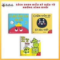 Sách Ehon Nhật Bản- Bộ Sách Điều Kỳ Diệu Từ Những Hình Khối dành cho bé từ 0-6 tuổi- Ehon giúp bé nhận biết hình dạng đồ vật