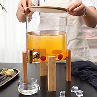 Bình detox, bình ngâm rượu, bình uống nước 5 lít đế gỗ
