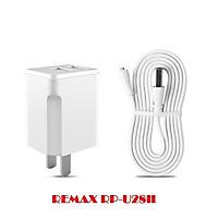 Bộ Cốc sạc và Cáp sạc Remax Elite Set RP-U28II 2.1A - 3 chân sạc Lightning / Micro-USB / Type-C (Hàng chính hãng)