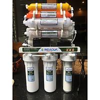Máy lọc nước  RO Mỹ  WEAQUA  9 cấp lọc công suất 10-15 l/giờ có thùng kính cường lực 1 vòi và không có thùng