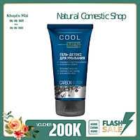 Gel rửa mặt detox than hoạt tính Cool Men 150ml giúp làm sạch, ngăn ngưa bụi bẩn bám trên da