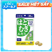 Viên uống Trắng da DHC Adlay Extract - Dưỡng da mịn màng trắng da, chống lão hóa da