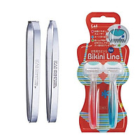 Combo Set 2 nhíp inox KAI và Set 2 dao cạo chuyên dùng cho phụ nữ KAI nội địa Nhật Bản