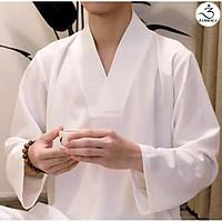 Trang phục đi chùa, ngồi Thiền & tập Yoga cao cấp ZAMBALA - Bộ NAM cổ V
