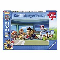 Xếp Hình Puzzle Paw Patrol: Ryder And His Friends Ravensburger RV07598 0 (2 Bộ 12 Mảnh)