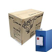 Thùng 5 File đựng tài liệu A4S - 15cm - KING JIM 3515 còng ống có tay cầm