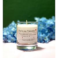 Nến thơm cao cấp - quà tặng Valentine đặc biệt, gồm: sáp ong đổ bằng tay và hỗn hợp tinh dầu hoa hồng