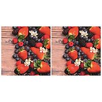Combo 2 Xấp Khăn Giấy Ăn Trang Trí Bàn Tiệc Tissue Napkins Design Ti-Flair 3446- 40 (33 x 33 cm) - 40 tờ