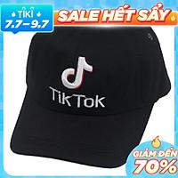 Nón kết Tik Tok thêu nổi chữ thời trang, dùng cho cả nam và nữ, đuôi khóa dễ điều chỉnh size, phong cách cá tính, năng động - Hạnh Dương