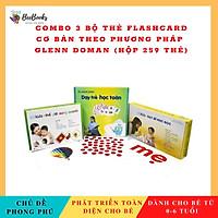 Thẻ Học Thông Minh Flashcard - Combo 3 Bộ Thẻ Flashcard Cơ Bản Theo Phương Pháp Glenn Doman (Hôp 259 thẻ)