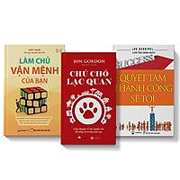 Combo 3 cuốn sách Chú chó lạc quan + Làm chủ vận mệnh của bạn + Quyết tâm thành cống sẽ tới