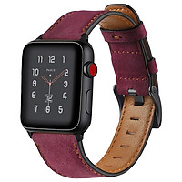 Dây da sáp dầu Vintage thay thế cho Apple Watch