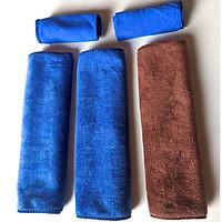 Bộ 3 Khăn lau xe hơi, ô tô, xe máy đa lông cừu năng siêu thấm, siêu mềm 30x70cm ( tặng kèm 2 khăn 25x25 CM )